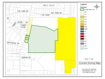 Location of North Ola Road proposed rezoning