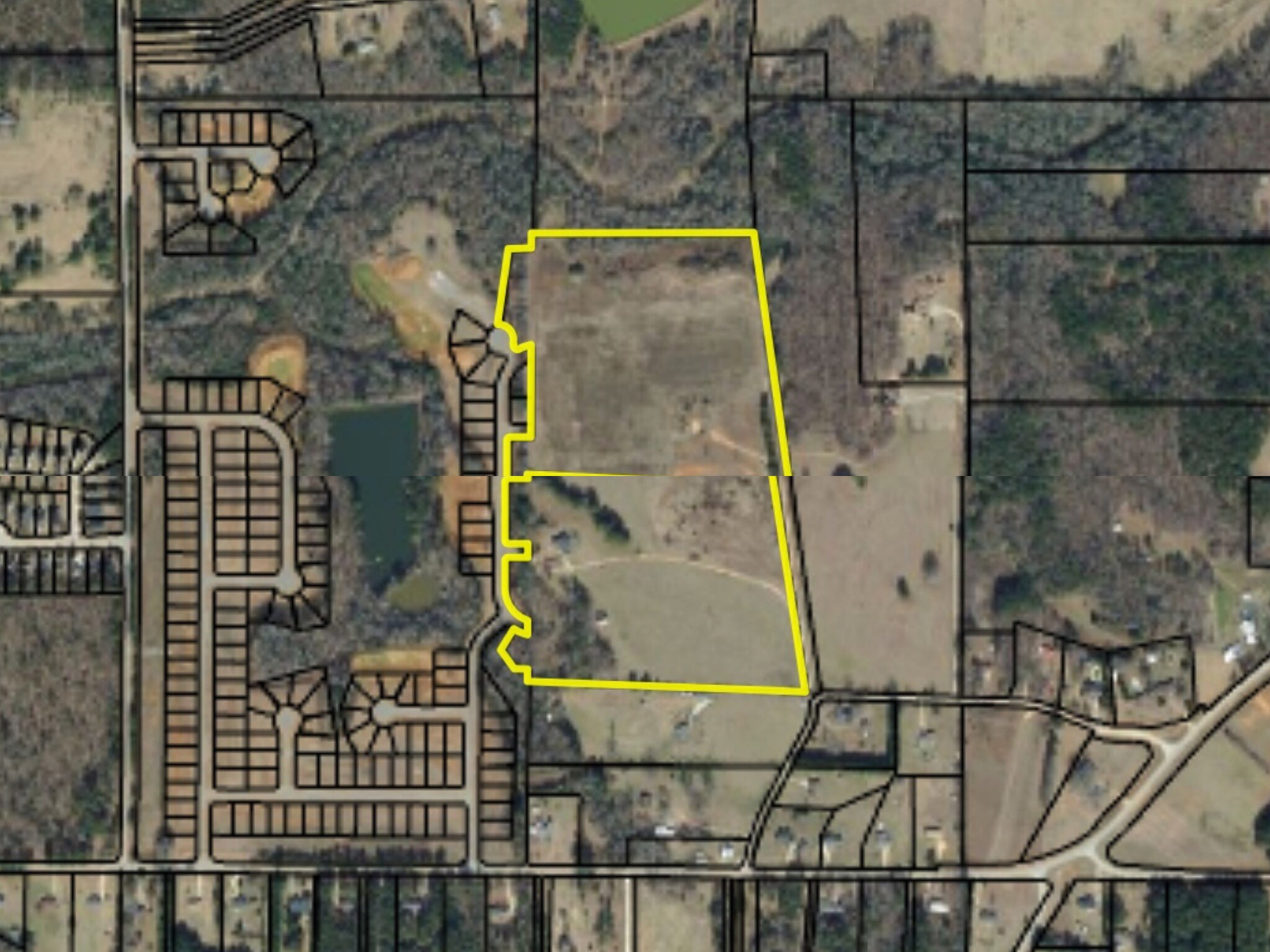 Subject property for proposed Bunn Family rezoning
