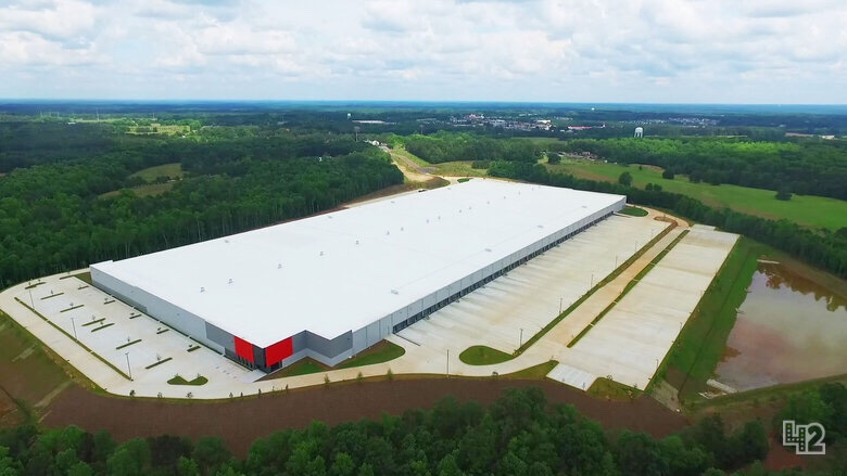 Aerial photo of ClayCo industrial project phase I