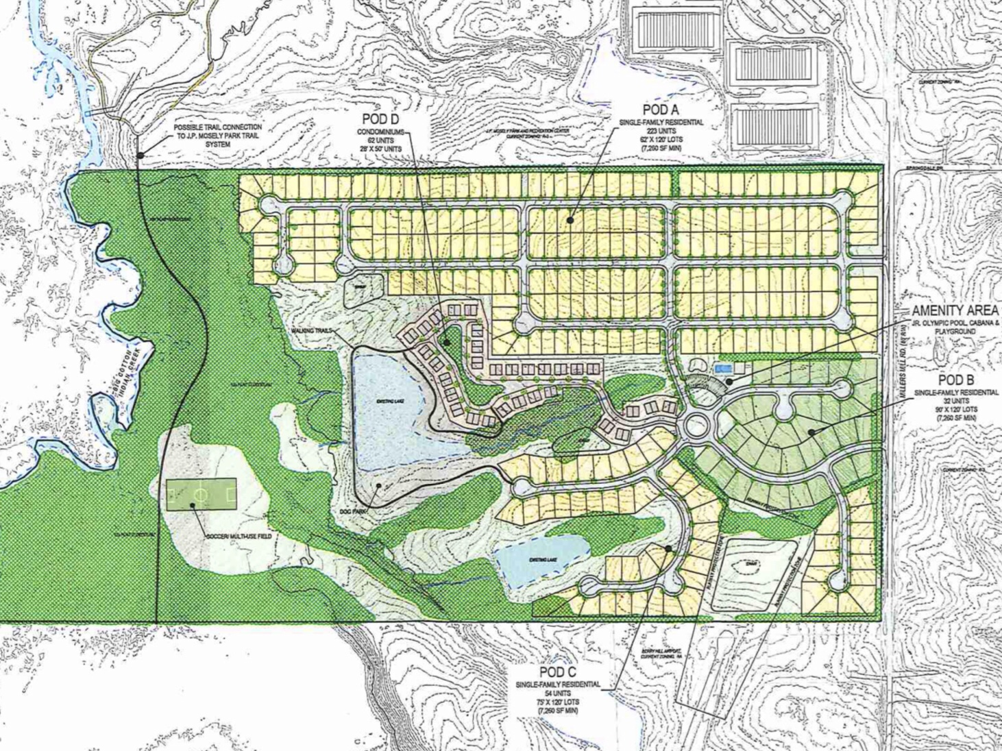 Concept site plan for Millers Mill Road RS development (Moore Bass Consulting photo)