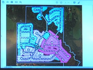 Site plan for Campground Road annexation and rezoning
