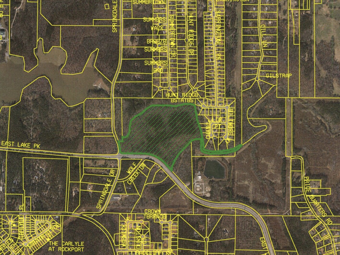 Location of East Lake Parkway at Springdale rezoning request