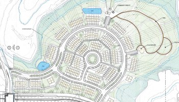 Concept site plan for townhome development on East Lake Parkway