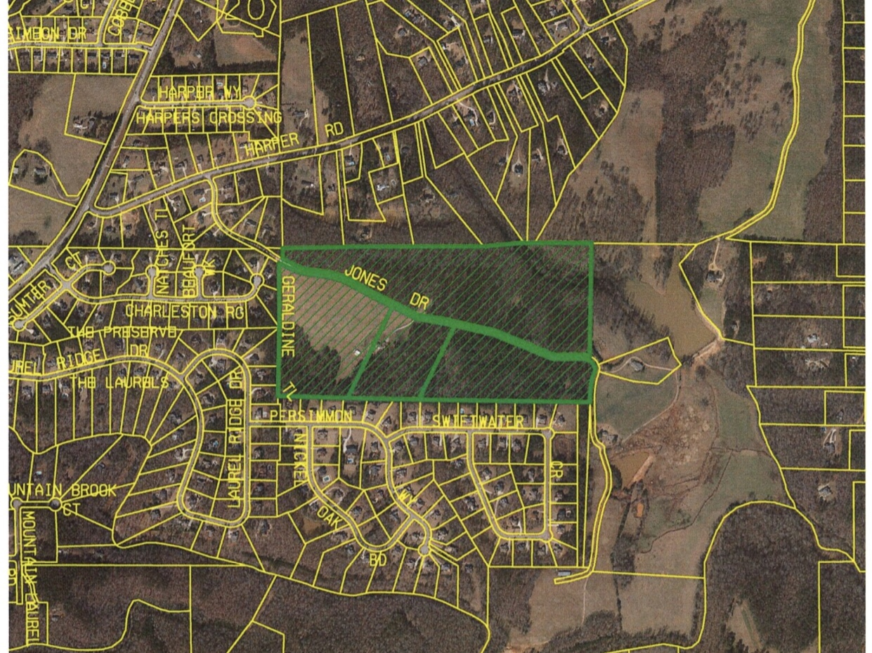 Location map for rezoning request on Jones Drive