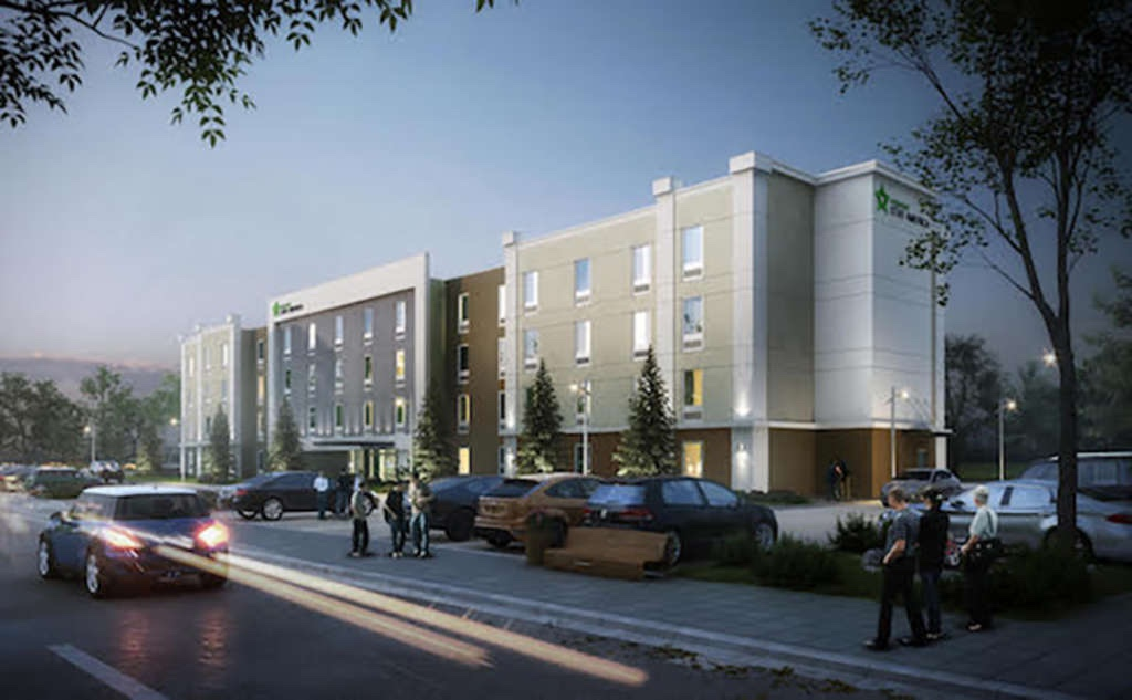 Photo of Extended Stay America front elevation (TGC Group photo)