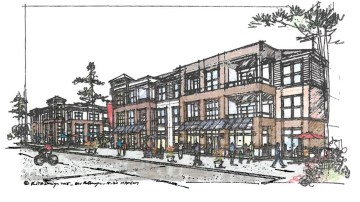 Concept elevation for South Point Blvd apartments (ECI Ventures photo)