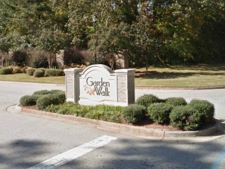 Garden Walk subdivision entrance (Google Street View photo)