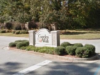 Garden Walk subdivision entrance (Google Street View photo)