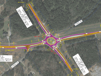 Concept layout for roundabout at SR 81 and Snapping Shoals Road