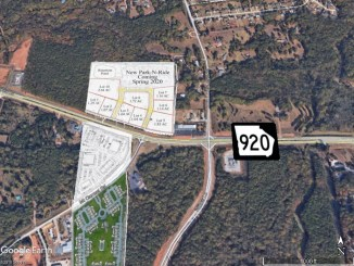 Map showing planned developments at Jonesboro Road and Mt Carmel Road
