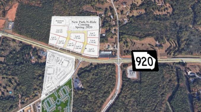 Map showing planned developments at Jonesboro Road and Mt Carmel Road