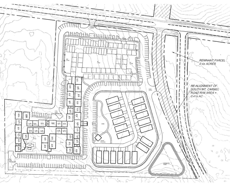 S Mt Carmel Road site plan (applicant photo)
