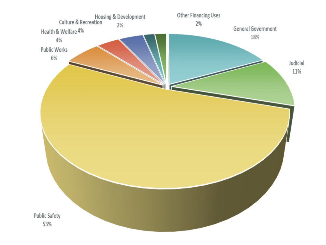 Pie chart of Henry County budget expenditures (Henry County photo)