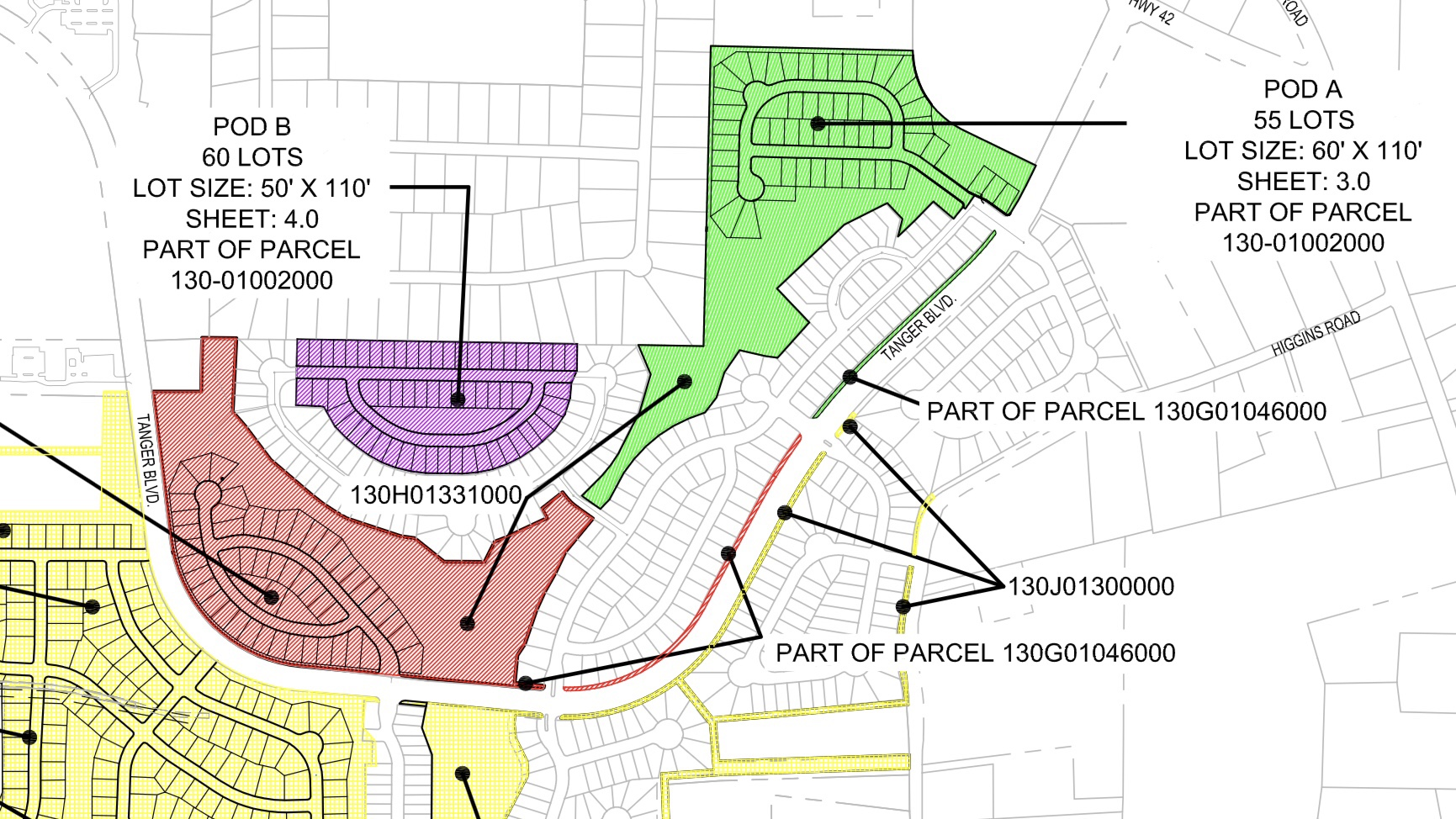 Exhibit map from 2018 for Locust Grove Station zoning update (HP Henry LLC photo)
