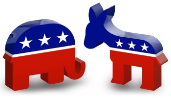 3D icons of Republican Elephant and Democratic Donkey (Donkey Hotey photo / Flickr)