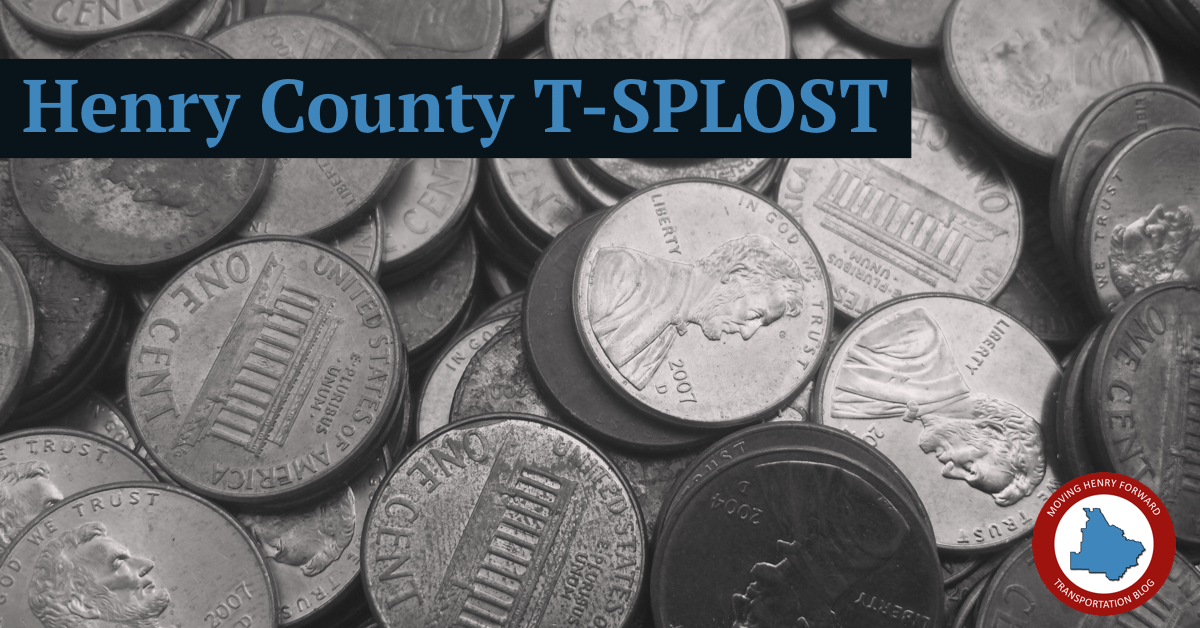 "Photo of pennies with the headline ""Henry County T-SPLOST"" (staff photo)"