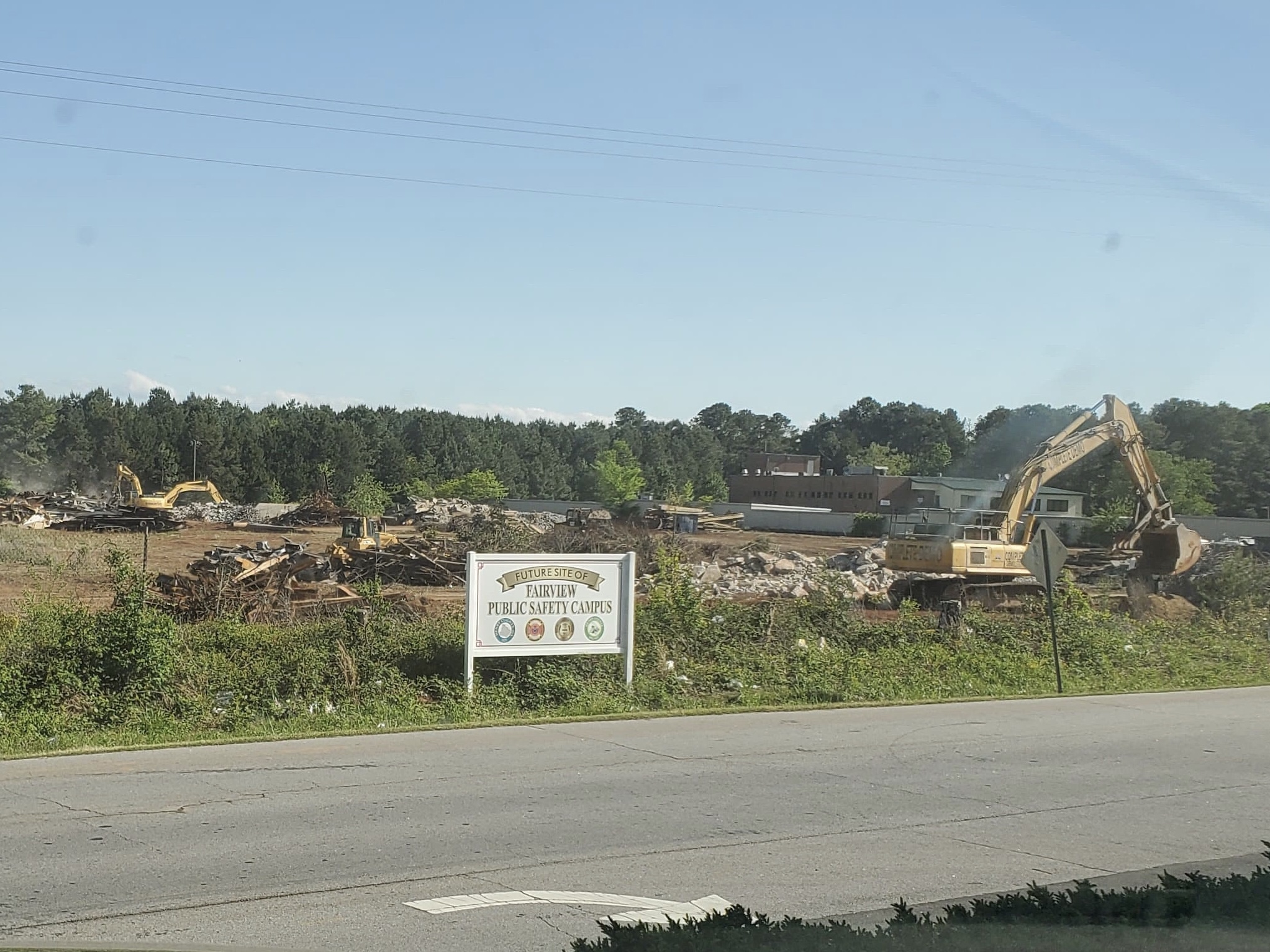 Photo of Fairview public safety complex property during site demolition (special photo)