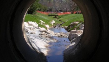View from inside of a stormwater pipe (Henry County photo)