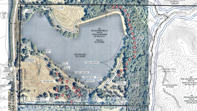 Concept site plan for Georgia Glamping Company (Land Engineering photo)