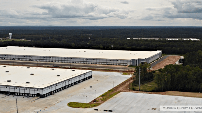 Aerial photo of Locust Grove industrial space (staff photo)