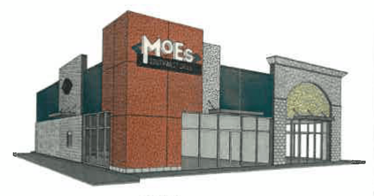 Concept exterior for Moe's Southwest Grill in Locust Grove (Tedro Design Group photo)