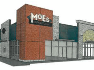 Exterior elevation for Moe's Southwest Grill in Locust Grove (Tedro Design Group photo)