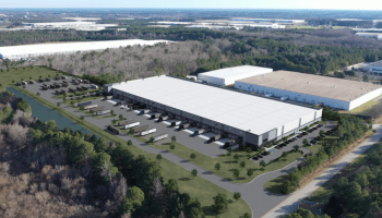 Aerial rendering of Declaration Logistics Center (Crow Holdings Industrial photo)