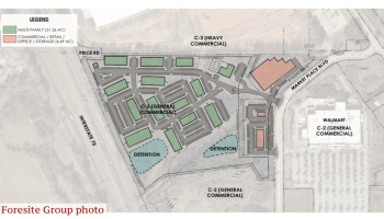 Concept site plan for Marketplace Blvd apartments (Foresite Group photo)