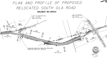 Line drawing of South Ola Road extension (Henry County photo)