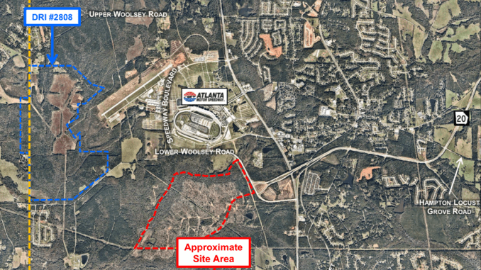 Area map showing Speedway Commerce Center (Kimley-Horn photo)