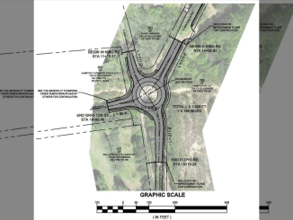 Concept layout for East King Road roundabout in Hampton. Photo shows future roundabout at East King Road and Floyd Road. (special photo)