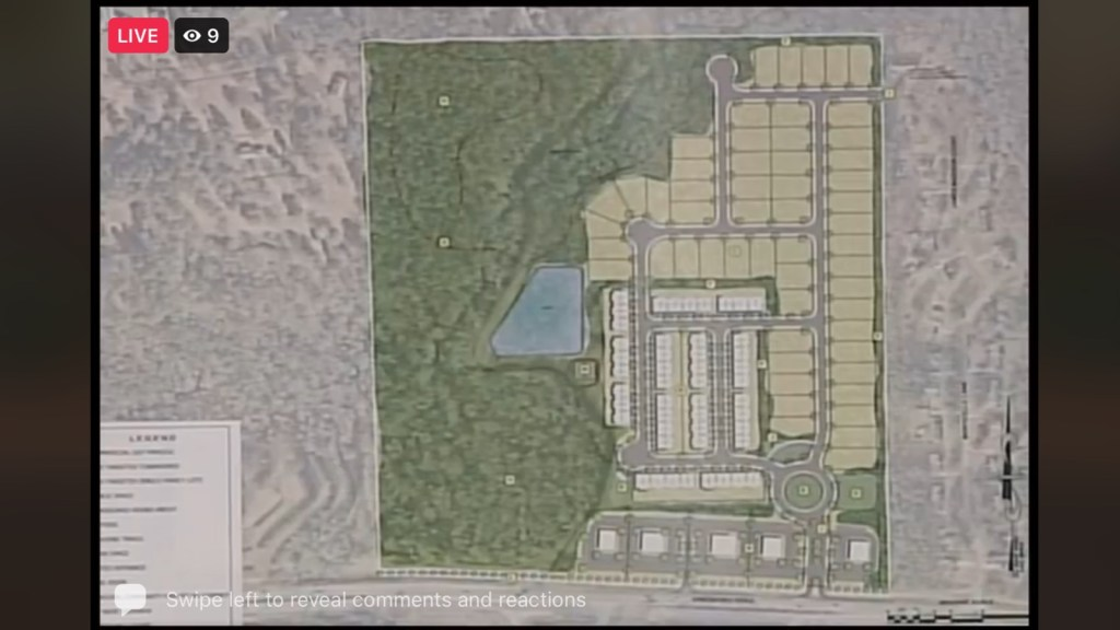 Concept site plan for Jonesboro Road development north of Heritage Way (Moore Bass Consulting photo)