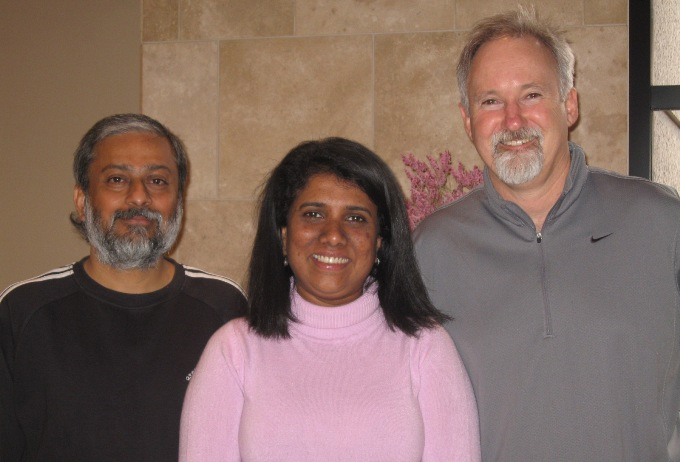 Krishnendu Bose, Manori Wijesekera and Richard Smith at Earth Vision 2008