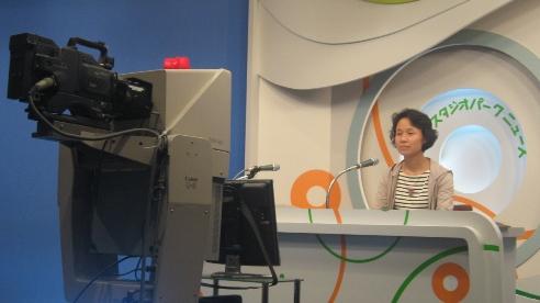 Hu Jincao of China faces NHK camera