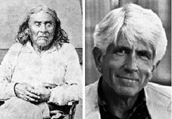 Chief Seattle (left) and actual speech writer Ted Perry