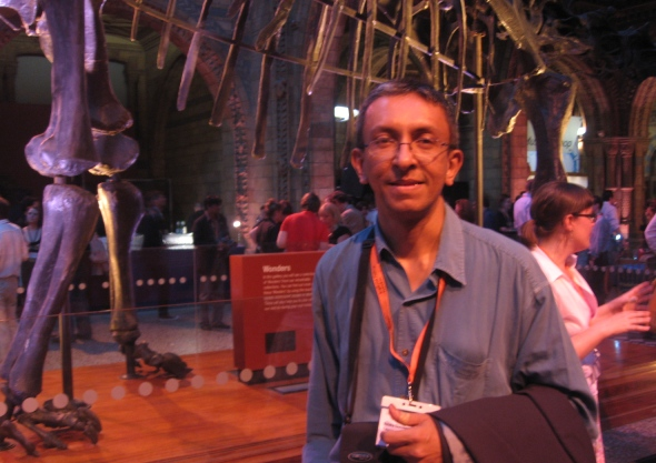 Strangely symbolic? WCSJ 2009 delegates were entertained at London's Natural History Museum...around the skeleton of a Diplodocus!