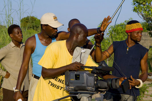 Lights, camera...budget action! Image courtesy 'This Is Nollywood'