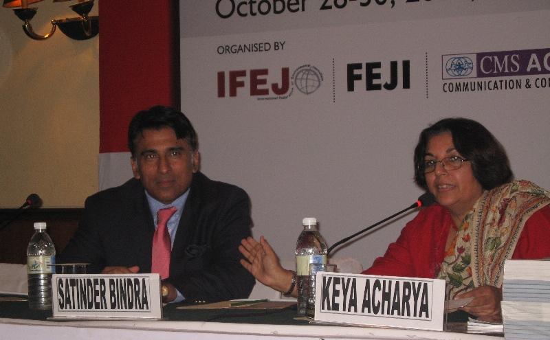 Satinder Bindra (left) and Keya Acharya