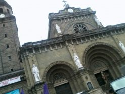 Manila Cathedral, officially known as Cathedral-Basilica of the Immaculate Conception, honoring the Blessed Virgin Mary as Our Lady of the Immaculate Conception, the Principal Patroness of the Philippines, is a prominent Latin Rite Roman Catholic basilica. The original cathedral was built in 1581 yet destroyed several times. The current cathedral was the eighth and last structure rebuilt in 1958 where the highest archbishop in the country resides.