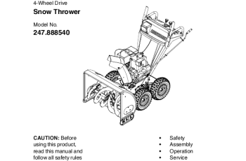 Manuals For Craftsman Snow Blowers - How To Get It For Free 3