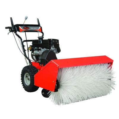 Do You Move Snow Around People A Power Brush Is The