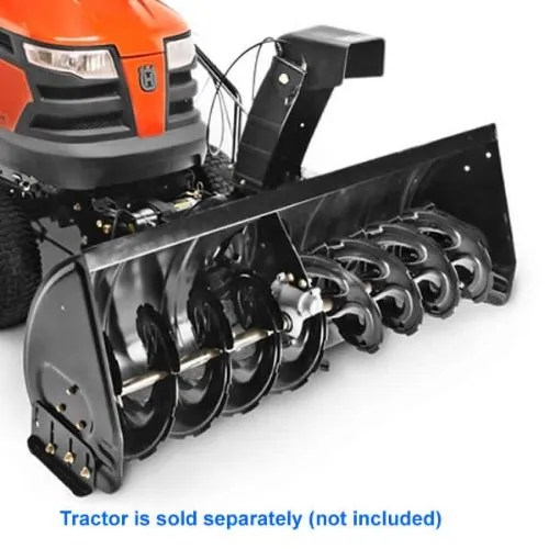 How To Attach Tractor Mounted Snow Thrower. Craftsman, Husqvarna, Ariens, Poulan or Jonserd Tractors