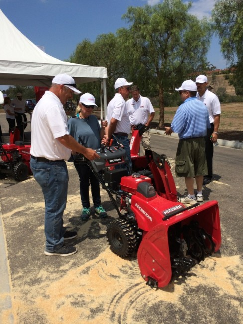 Attendees had a chance to blow saw dust!