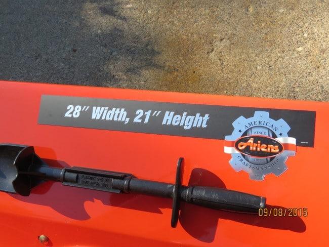 Ariens Deluxe 28 SHO Chute Stick