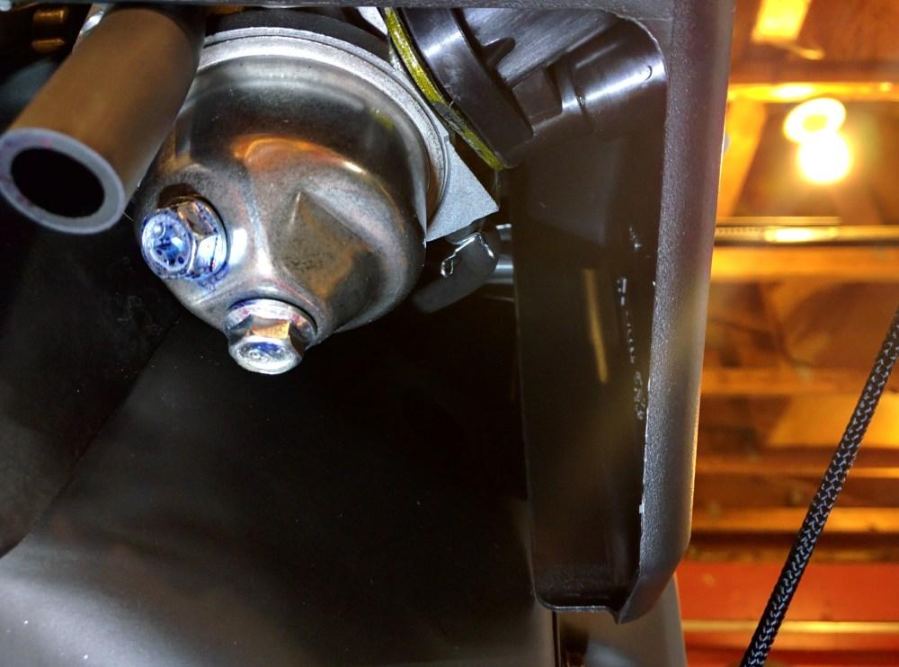medium resolution of drain screw on left