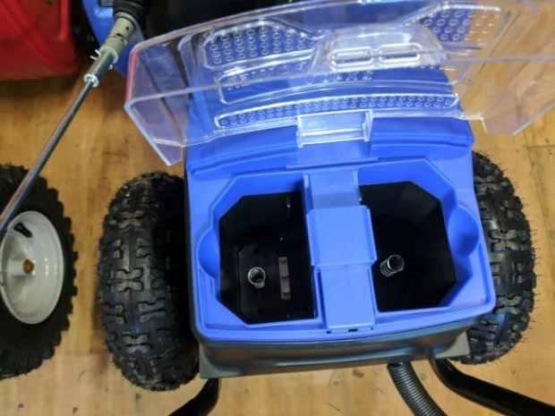 snow joe battery compartment