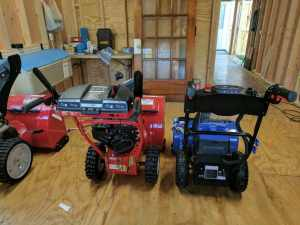 Troy-Bilt Storm 2410 and Snow Joe iON24SB-XR