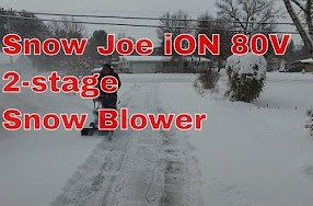 Snow Joe iON 80V 2-stage tested in snow - Is it for you? 1