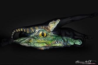 Body painting – Des animaux peints sur des corps nus