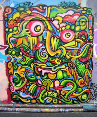 Nosbe et son crew PPA : Petites Peintures entre Amis